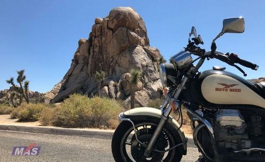 Viaje por California con una moto guzzi