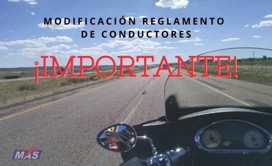cambio reglamento conductores moto