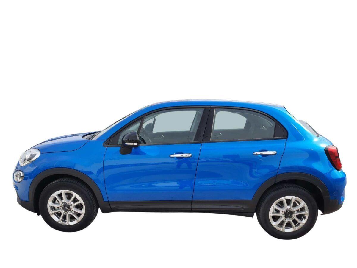Fiat 500x urban 120 cv de 2020 km0 azul lateral