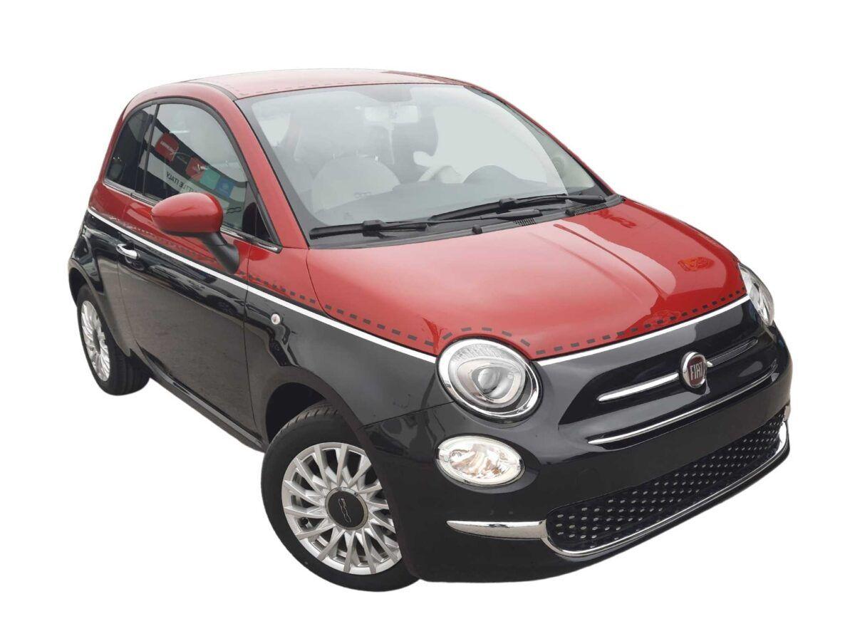 Fiat 500 híbrido GLP gasolina de km0, bicolor rojo/negro 1.2 69cv
