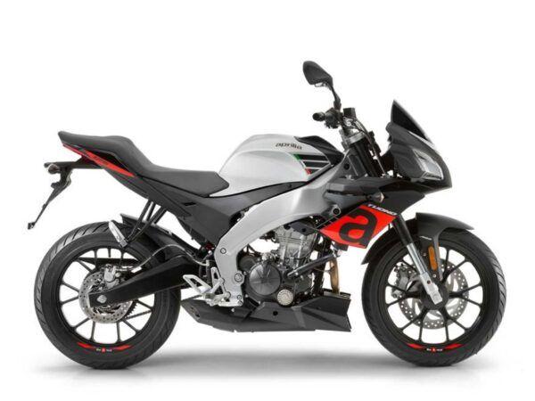 Moto Aprilia Tuono 125 gris energy nueva