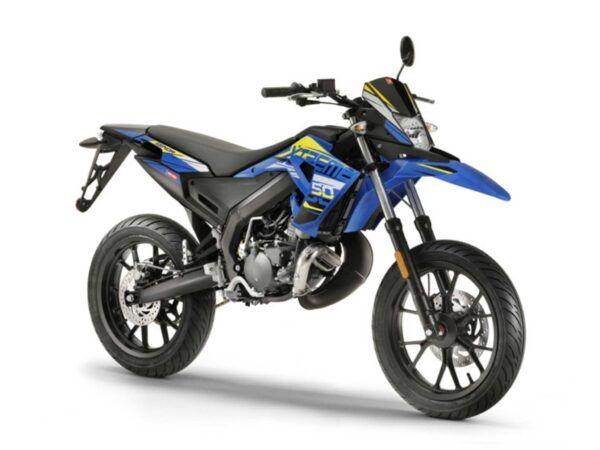 Moto Derbi senda x-treme 50 sm en azul y amarillo, nueva