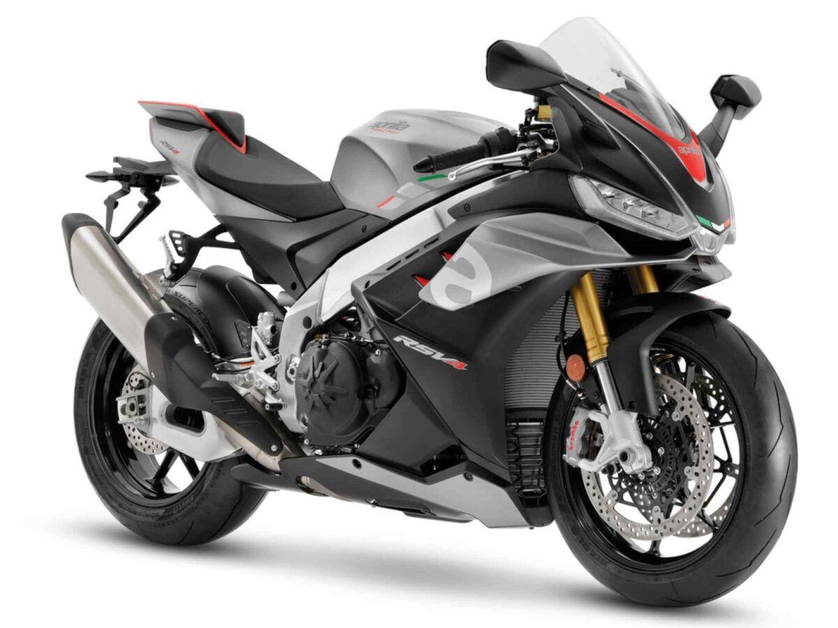Moto Aprilia RSV4 1100 Euro 5 2021 en color dark losail gris