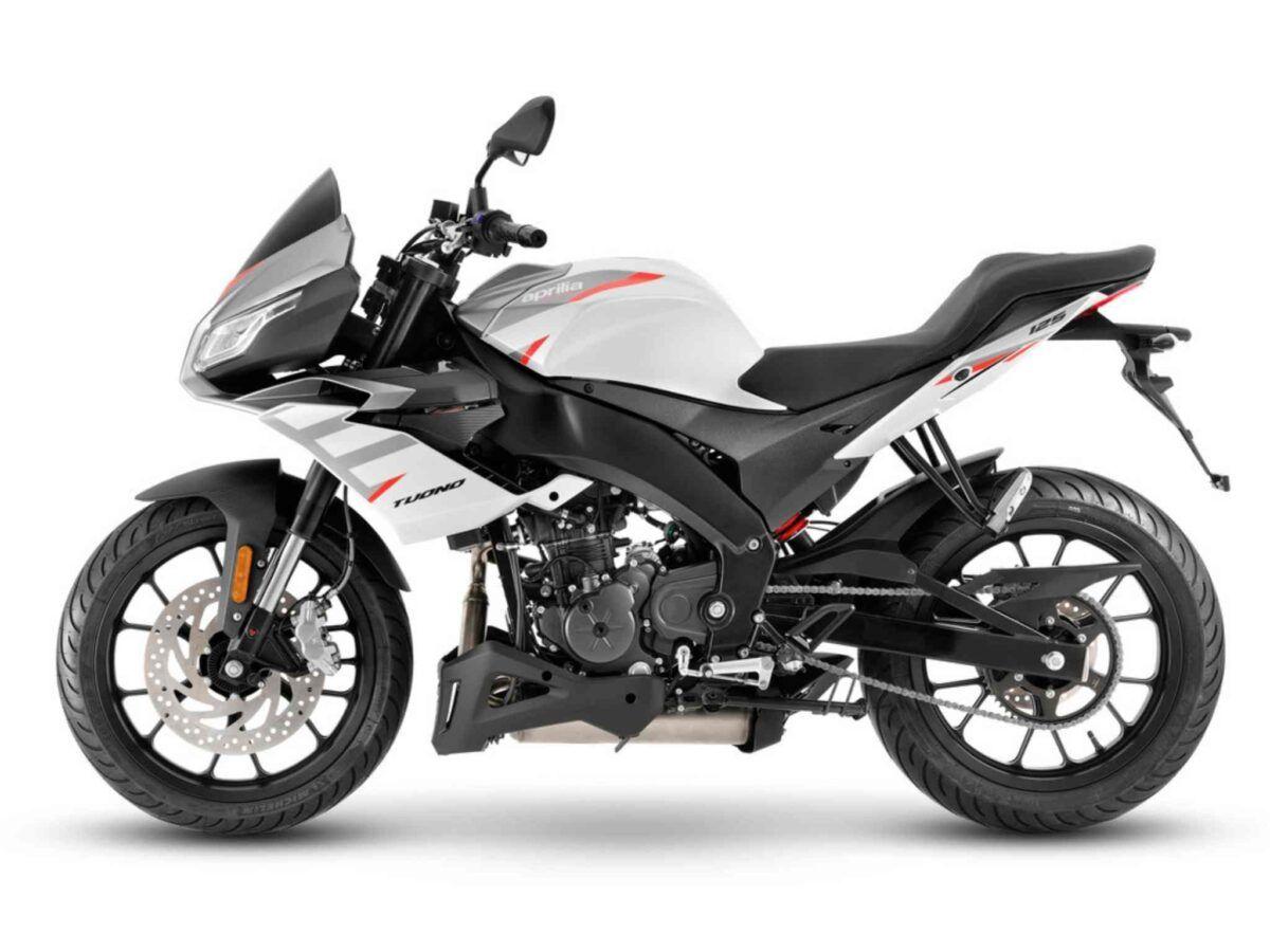 Moto Aprilia Tuono 125 Euro 5 color white lighting nueva