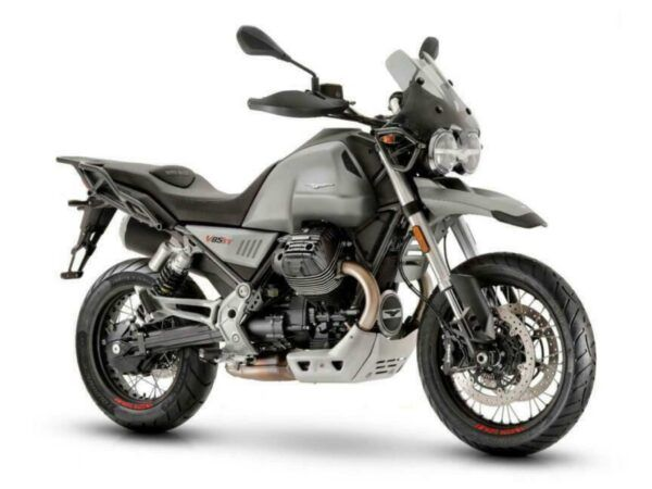 Moto Guzzi V85tt color gris atacama