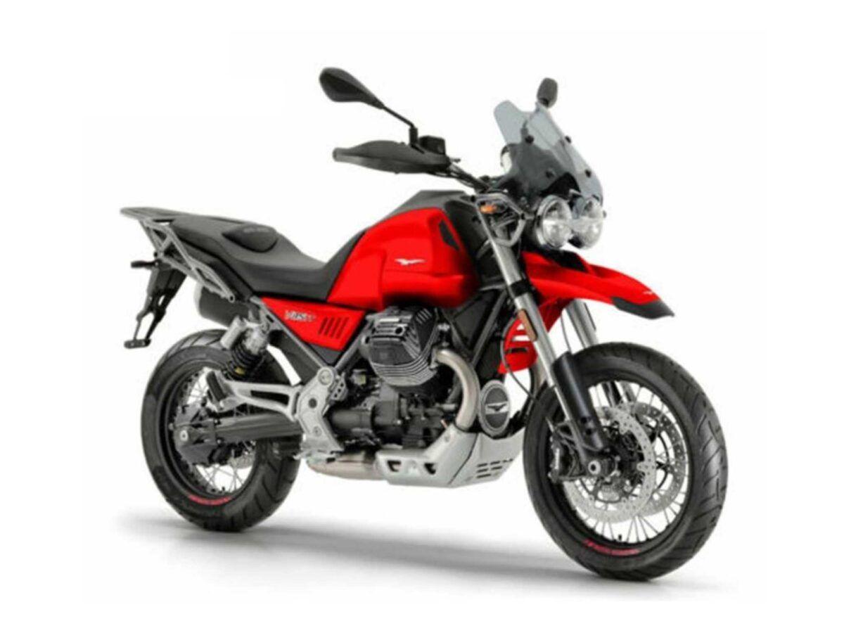 Moto Guzzi V85 TT color rojo vulcano nueva