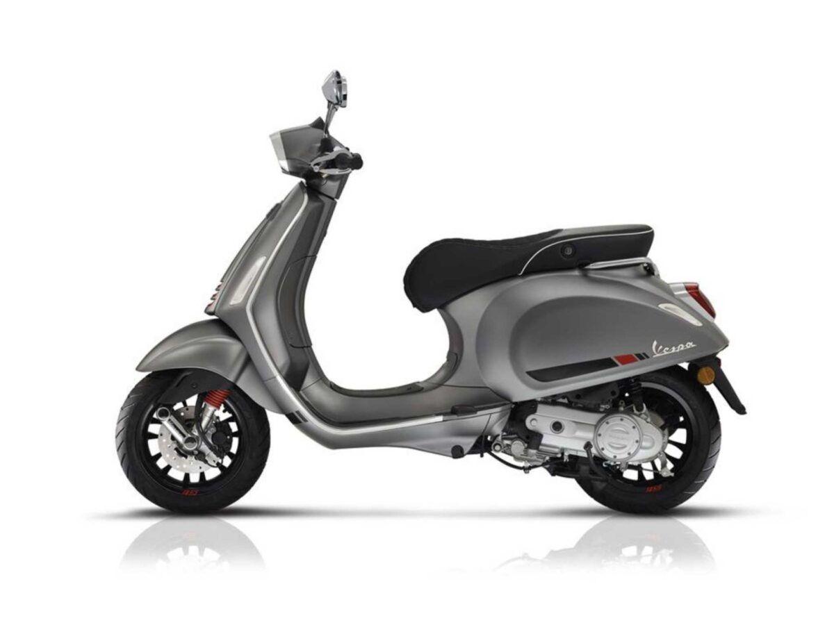 Moto Vespa Sprint 125 S E4 en color gris nueva