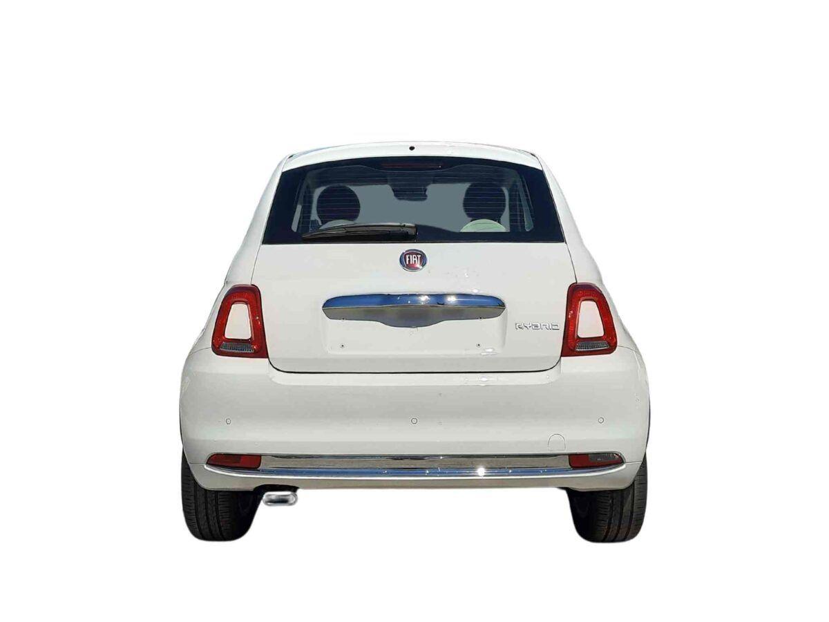 Coche km0 Fiat 500 1.0 70cv lounge híbrido, a estrenar en color blanco