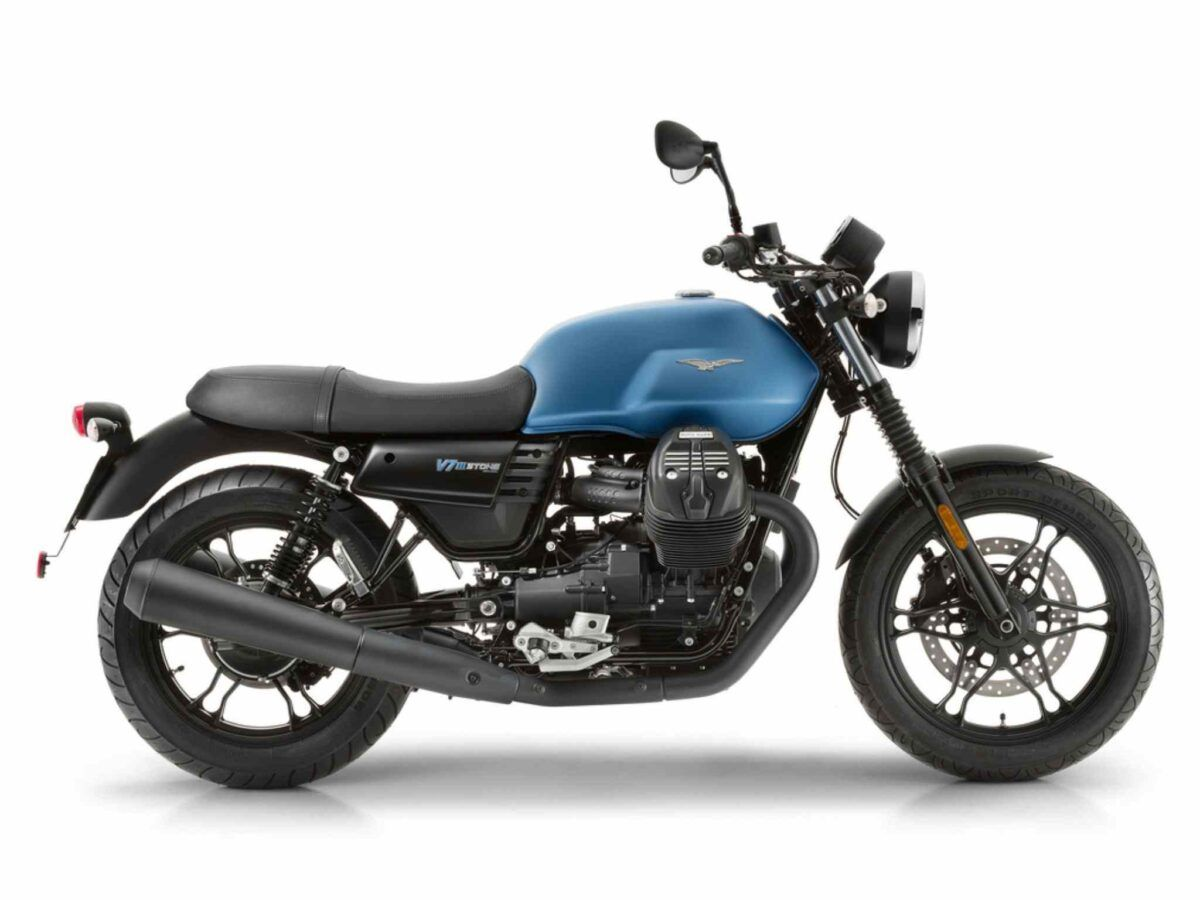 Moto Guzzi V7 Stone III 35kw euro 4 azul