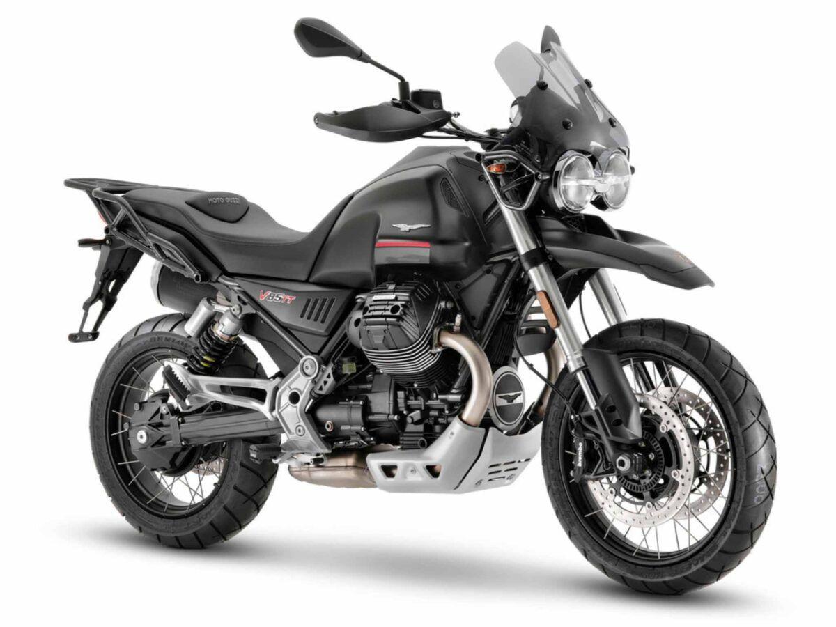 Moto Guzzi V85 TT negra de 2021